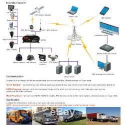 1080N AHD HDD 8CH GPS WIFI 4G Car DVR Video Record 7 Monitor CCTV Camera System