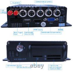 1080P AHD 4CH GPS 4G 512GB Car DVR MDVR Video Record CCTV Camera Remote Monitor