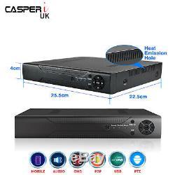 16CH 5MP Smart CCTV DVR CASPERi Ultra HD Surveillance Video Recorder HDMI H. 265