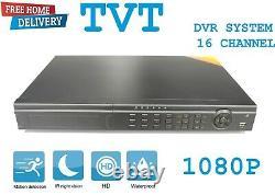 16-CH CHANNEL HD TVI 1080P Digital Video Recorder CCTV Security + 1TB HDD DVR