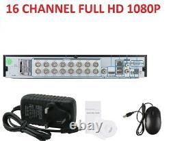 16 Channel DVR FULL HD 1080P 5IN1 smart CCTV DIGITAL Video Recorder P2P HDMI VGA