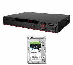 16 Channel Penta-brid XVR 4K DVR Recorder CCTV OEM Dahua with 2 TB SATA Hard Drive