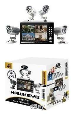 1TB CCTV SECURITY SYSTEM 4 x CAMERA DVR RECORDING WITH MONITOR for HOME OFFICE