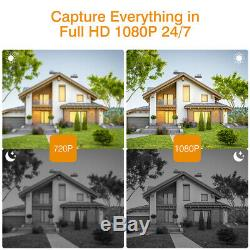 1TB HDD 1080P Wireless CCTV Home Security IP Camera System 8CH DVR NVR Recorder