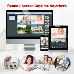 1TB HDD 4CH Wireless CCTV 1080P DVR Recorder Outdoor Wifi IP Camera Security Kit