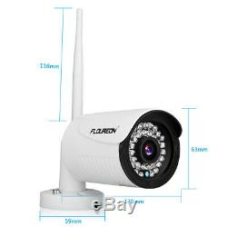 1TB HDD CCTV 4CH Wireless DVR Recorder 3000TVL Wifi Home Outdoor Security Camera