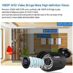 1TB HDD CCTV 8CH 1080N 3000TVL DVR Recorder In/Outdoor Security Cameras System