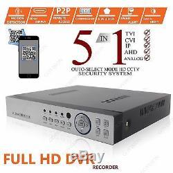 1 TB HDD 4CH CCTV DVR Record 2.4MP 1080p Kamera IR-CUT Heim Sicherheits System