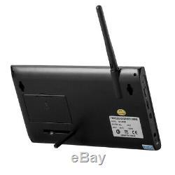 2019 Digital 4 Wireless CCTV Camera & 7'' LCD Monitor DVR Record Home Security