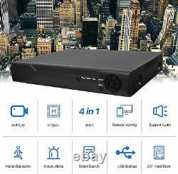 2TB CCTV DVR System Recorder 4 Channel 5MP 4K AHD HD 1080P VGA HDMI BNC NEW UK