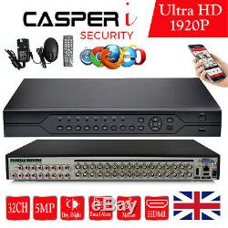 32CH DVR 1920P 5MP Video Recorder For Home CCTV Security Camera System P2P BNC
