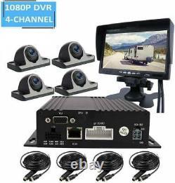 4CH 1080P AHD 512GB SD Car DVR MDVR Video Recorder CCTV Real-time Monitor System