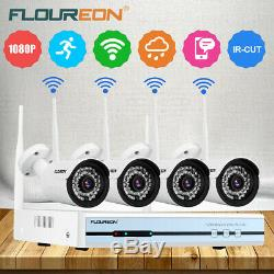 4CH CCTV 1080P DVR Recorder 4X Home Outdoor Security Camera System Kits +1TB HDD