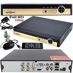 4CH CCTV DVR 1080p HD HDMI 4x 2.4MP AHD Bullet Camera 1TB HDD Home System Kit