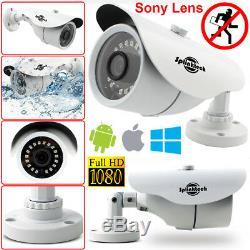 4CH CCTV DVR 1TB HDD 4x Bullet Security 2.4MP Full HD 1080p Sony IMX Camera Kit