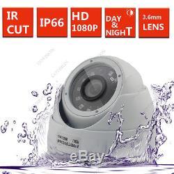 4CH CCTV DVR Record 2.4MP 1080P Camera IR-CUT Home Security System Kit 4 Camera