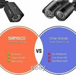 4CH Full HD Pro CCTV Camera System, 1080p Smart DVR Recorder + 2x 2MP HD Camera