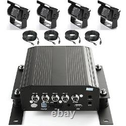 4Ch Car Mobile DVR Video Recorder +4 Cable HD Camera Support 2.5 Hard Drive HDD