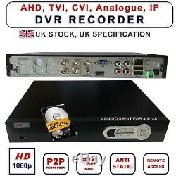 4/8/16 Ch CCTV Video Recorder HD 1080P NVR AHD TVI CVI DVR Home Security System