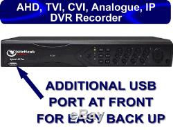 4 8 16 channels DVR CCTV Recorder upto 16 audio Hard D Hybrid 4 IN 1 HD P2P UK