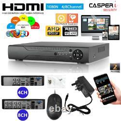 4/8 Channel Smart CCTV DVR AHD 1080N Video Recorder Motion HD 1080P VGA HDMI BNC