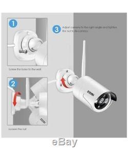 4 Camara De Seguridad Casa Recording DVR Vision Noche HD Wifi Inalambric Android