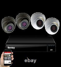 4k Cctv Kit System Sentry Dvr Ultra Hd 2 3 4 5 6 8mp Dome Camera H265+ Recorder