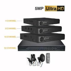 5MP DVR 4K 4 8 16 CH CCTV Recorder HD AHD TVI HDMI P2P IP HOME SECURITY SYSTEM