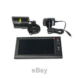 7 LCD Monitor Recorder Outdoor Wireless CCTV DVR 2/3/4 Cameras Security Systems