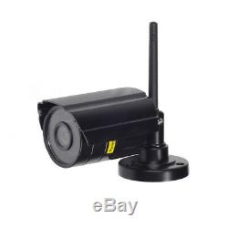 7 LCD Monitor Recorder Outdoor Wireless CCTV DVR Video 4 Camera Security System