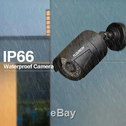7'' Monitor 4CH 1080P CCTV DVR Outdoor Cameras System HDMI Video Recorder 3.6mm