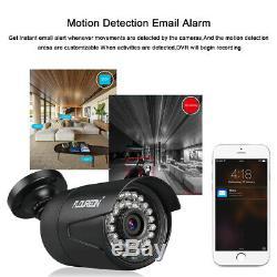 8CH 1080P 5 IN 1 DVR Recorder 3000TVL CCTV Outdoor 2MP Security IP Camera System