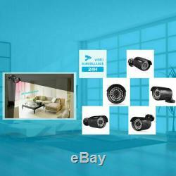 8CH 19201080P CCTV 3000TVL Camera Kit with 1TB Hard Drive DVR Recorder Security