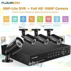 8CH 5MP-Lite 1080P 6-in-1 Video DVR Recorder XVI Weatherproof CCTV Camera System