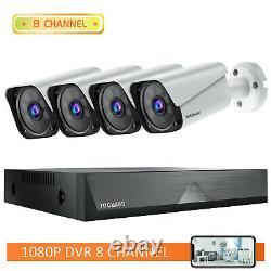 8CH DVR Recorder CCTV Außen Video Überwachungskamera System mit 4 1080P Cameras