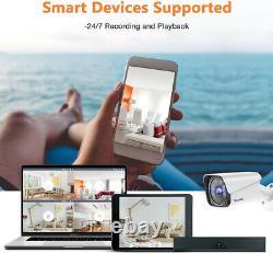 8CH DVR Recorder CCTV Außen Video Überwachungskamera System mit 4x1080P Cameras