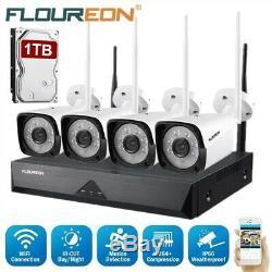 8CH Wireless CCTV 1080P DVR System Kit WiFi IP Camera 1TB HDD NVR Video Recorder