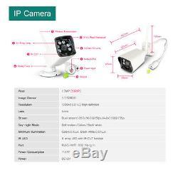 8CH Wireless CCTV DVR Wifi 960P HD Camera Recorder NVR System 1TB 6 IR Array LED