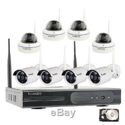 8CH Wireless CCTV Home security camera system with Recorder 2TB HDD Hard Drive