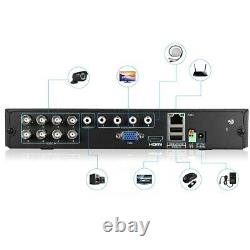 8Ch AHD DVR HDMI Recorder 4 Outdoor 3000TVL 1080P CCTV Cameras 1TB Hard Drive
