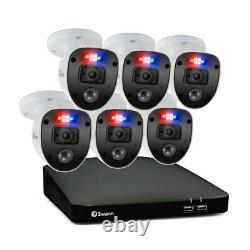 8 Channel 1TB DVR Recorder with 6 x Full HD Police Style Ligth Enforcer Cameras