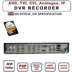 8 Channel Cctv Security Dvr 5in1 1080p 8 Audio Video Recorder H. 264 Viper Pro Uk
