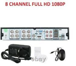 8 Channel DVR FULL HD 1080P smart 4IN1 CCTV DIGITAL Video Recorder P2P HDMI VGA
