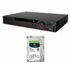 8 Channel Penta-brid XVR 4MP DVR Recorder CCTV OEM Dahua with 4 TB SATA Hard Drive
