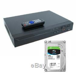 8 Channel XVR 4K 4MB IP DVR CVI TVI AHD Recorder CCTV 4TB OEM Dahua