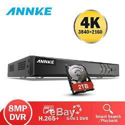 ANNKE 4K 8MP DVR Video 8CH CCTV Digital Video Recorder Full Channel Onvif UK
