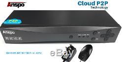ANSPO 8 Channel 2TB Smart 1080N/1080P HD CCTV DVR Video Recorder VGA HDMI BNC