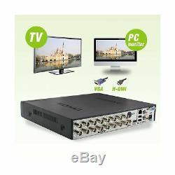 Abowone 16 Channel DVR Recorder Hybrid H. 264 CCTV Security Camera System Digital