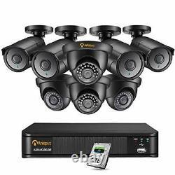 Anlapus 8CH Ultra HD 4K Home Security Camera System, H. 265+ 4K 8MP DVR Recorder