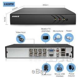 Annke CCTV System 8+2CH DVR Recorder IP 1080p Camera UK